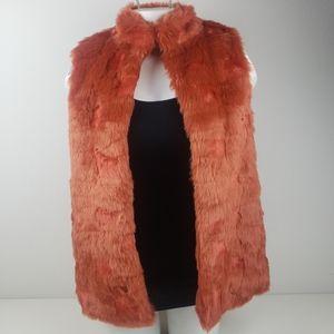 Forever 21 orange fur vest size medium